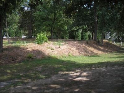 Earthworks in Front of the Mansion image. Click for full size.