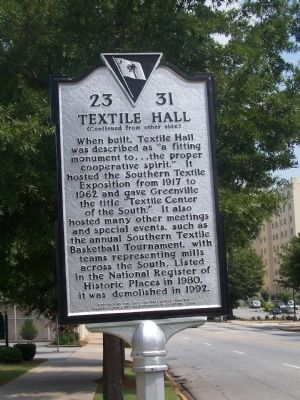 Textile Hall Marker - Reverse image. Click for full size.