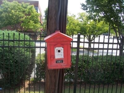 Fire Call Box located across street from Marker image. Click for full size.