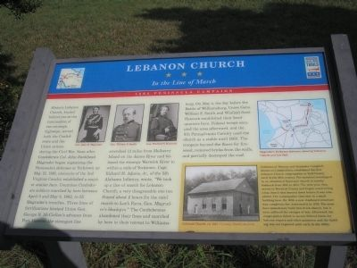 Lebanon Church Marker Photo, Click for full size
