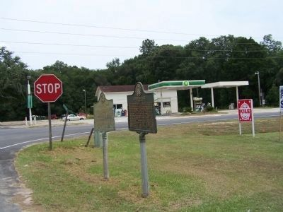 Cooperville Marker, along US 301 and GA 17 image. Click for full size.