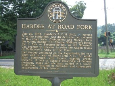 Hardee at Road Fork Marker image. Click for full size.