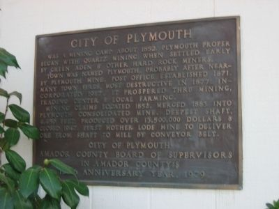 City of Plymouth Marker image. Click for full size.