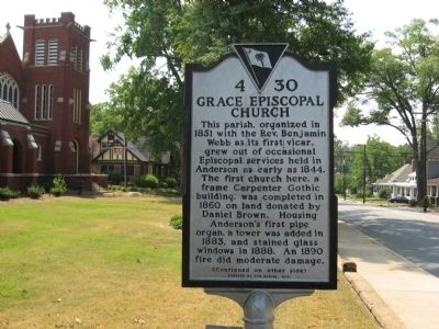 Grace Episcopal Church Marker<br>Front image. Click for full size.
