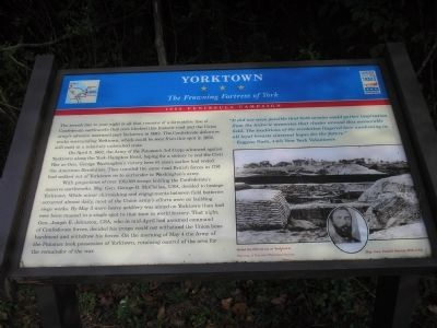 Yorktown Civil War Trails Marker Photo, Click for full size