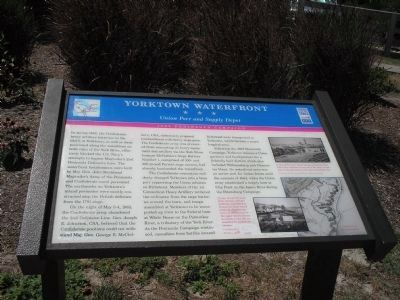 Yorktown Waterfront Civil War Trails Marker image. Click for full size.