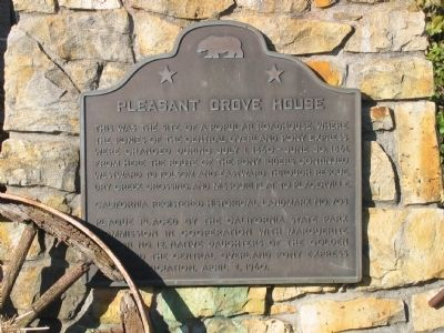 Pleasant Grove House Marker image. Click for full size.