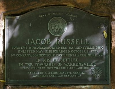 Jacob Russell Marker image. Click for full size.