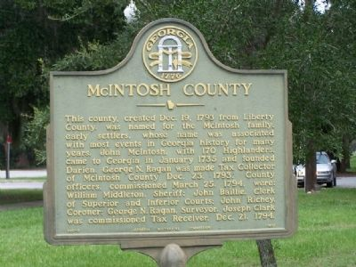 McIntosh County Marker image. Click for full size.