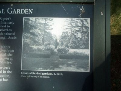 Colonial Revival gardens, c. 1910, image. Click for full size.