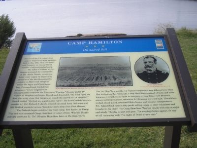 Camp Hamilton Marker Photo, Click for full size