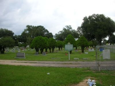 Dade City Cemetery Marker, looking east image. Click for full size.