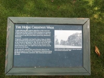 The Horse Chestnut Walk Marker image. Click for full size.