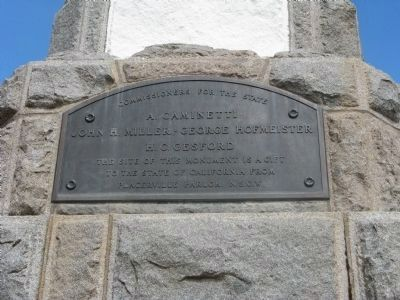 Second Marker Located on the Monument. </b>It reads: image. Click for full size.