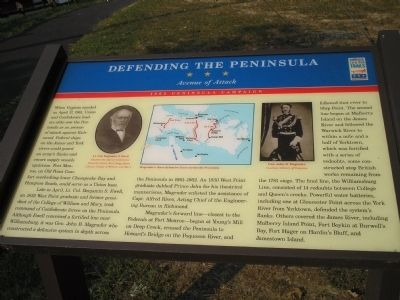 Defending the Peninsula Marker image. Click for full size.