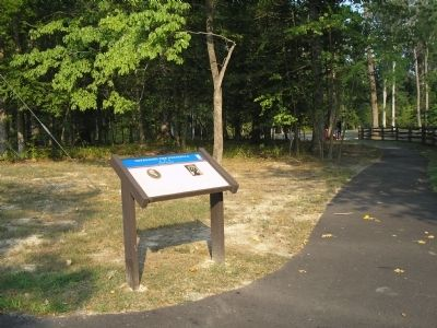 Marker in Redoubt Park image. Click for full size.