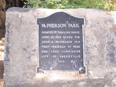 McPherson Park Marker image. Click for full size.