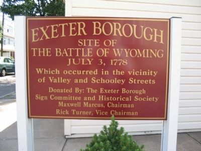 Battle of Wyoming Sign Photo, Click for full size