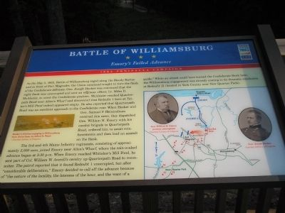 Battle of Williamsburg Marker Photo, Click for full size