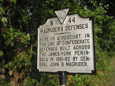Magruder's Defenses Marker image. Click for full size.