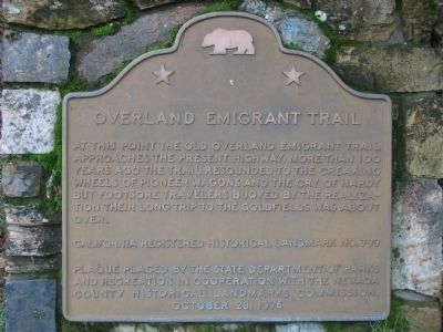 Overland Emigrant Trail Marker image. Click for full size.