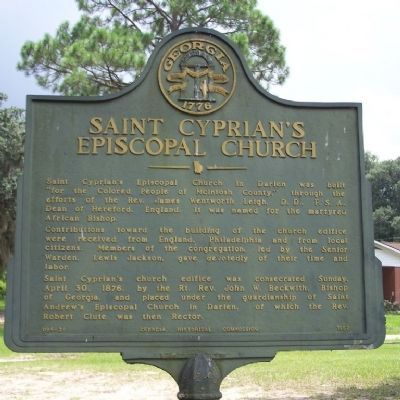 Saint Cyprian's Episcopal Church Marker image. Click for full size.