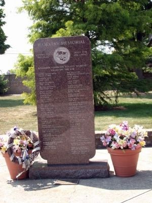 Workers Memorial - Vermilion County Illinois Marker Photo, Click for full size