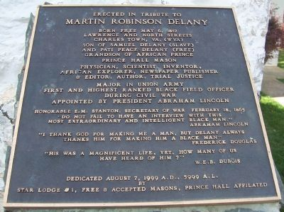 Martin Robinson Delany Marker image. Click for full size.