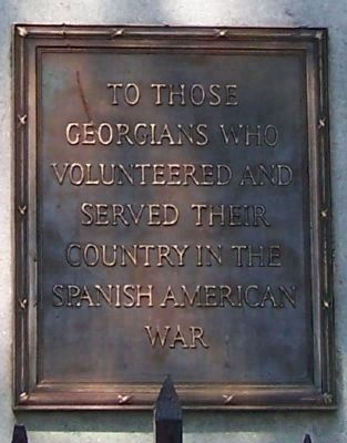 The Georgia Volunteer Marker </b>(south face, closeup) image. Click for full size.
