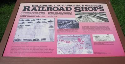 Delaware, Lackawanna & Western Railroad Shops Marker image. Click for full size.