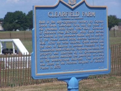 Clearfield Farm Marker image. Click for full size.