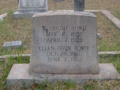 Tombstone for William B. Bowie - Eli Bowie's Third Son image. Click for full size.