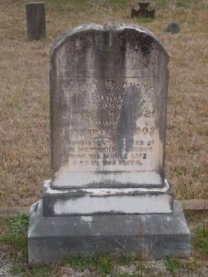 Tombstone for Henry Browner Bowie -<br>Eli Bowie&#39;s Fifth Son image. Click for full size.
