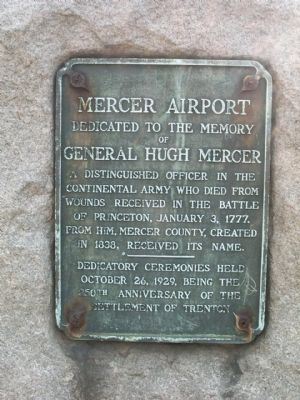 Mercer Airport Marker image. Click for full size.