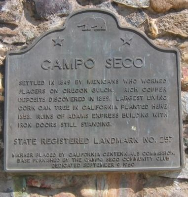 Campo Seco Marker image. Click for full size.