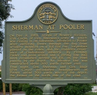 Sherman at Pooler Marker image. Click for full size.
