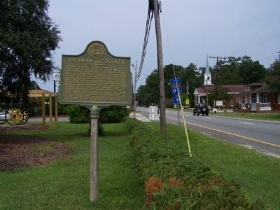 Sherman at Pooler Marker looking west US 80 image. Click for full size.