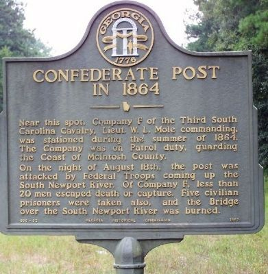 Confederate Post in 1864 Marker Photo, Click for full size
