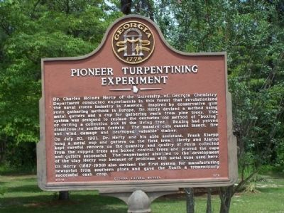 Pioneer Turpentining Experiment Marker image. Click for full size.