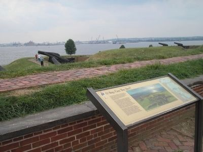Marker at Fort McHenry image. Click for full size.