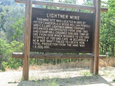 Lightner Mine Marker image. Click for full size.