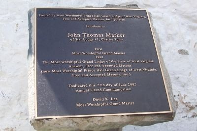John Thomas Marker marker image. Click for full size.