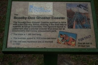 The Scooby-Doo Ghoster Coaster Marker Photo, Click for full size