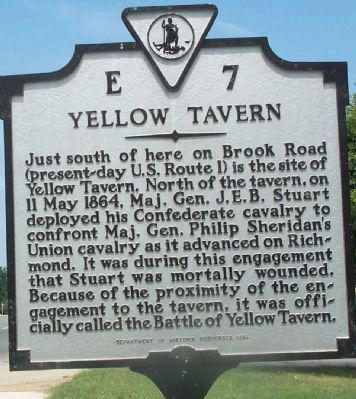 Yellow Tavern Marker image. Click for full size.