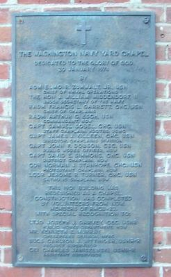Washington Navy Yard Chapel Dedication Plaque image. Click for full size.