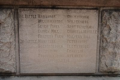 Anderson County Confederate Monument - West image. Click for full size.