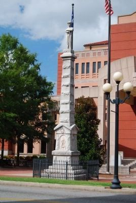 Anderson Confederate Monument -<br>East Side image. Click for full size.