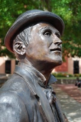 William Church Whitner Statue -<br>Face Detail Photo, Click for full size