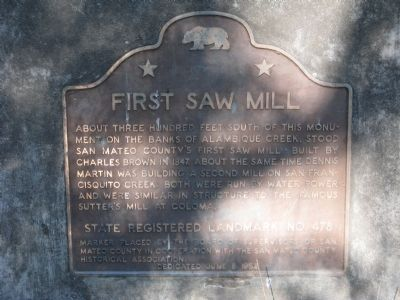 First Saw Mill Marker image. Click for full size.