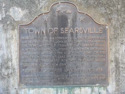 Town of Searsville Marker image. Click for full size.